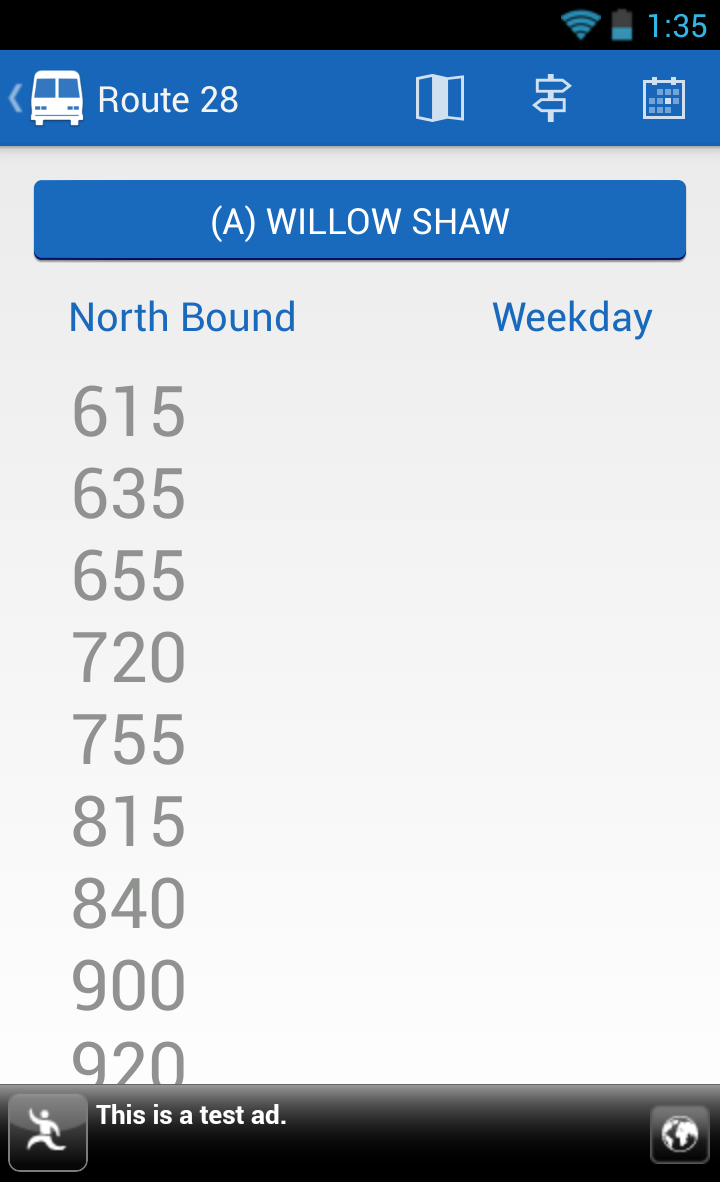 Android Bus Schedule image